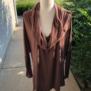 NWT Nymphe long sleeve brown shirt cowl neck Med